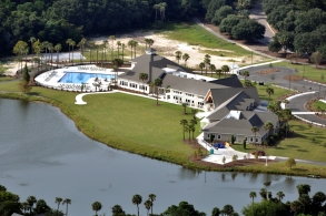 lake house aerial