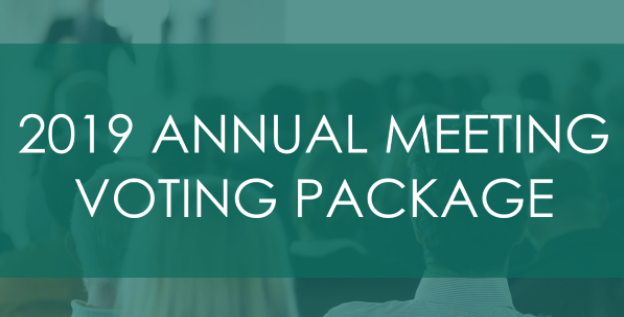 2019 Annual Meeting PackageDocuments